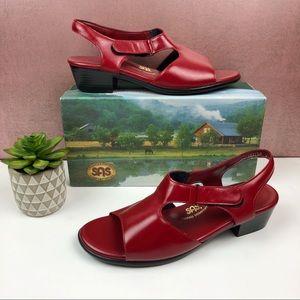 SAS Red Suntimer Open Toe Comfort Sandals Size 11